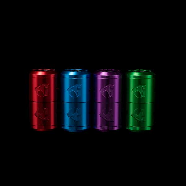 Goon V1.5 RDA Colored caps by 528 Customs, Available at a Vaperite near you or online at Vaperite.co.za, Available in Red, Blue, Green and Purple