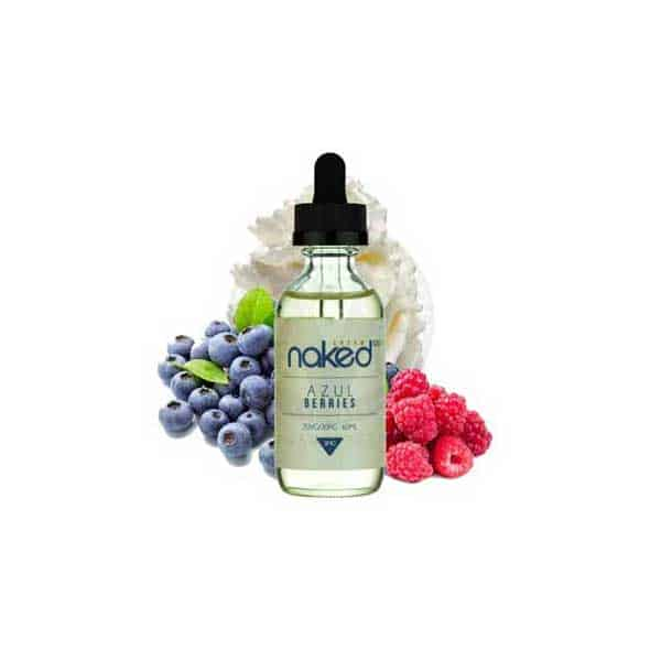 Naked 100 - Azul berries, Available at a Vaperite near you or online at Vaperite.co.za in nicotine strength 0mg, 3mg 6mg and bottle sizes 60ml for R280